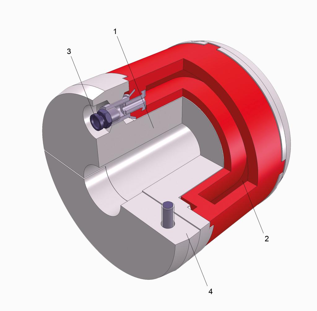 3D-Schnittdarstellung, Adapter, Serie 3130