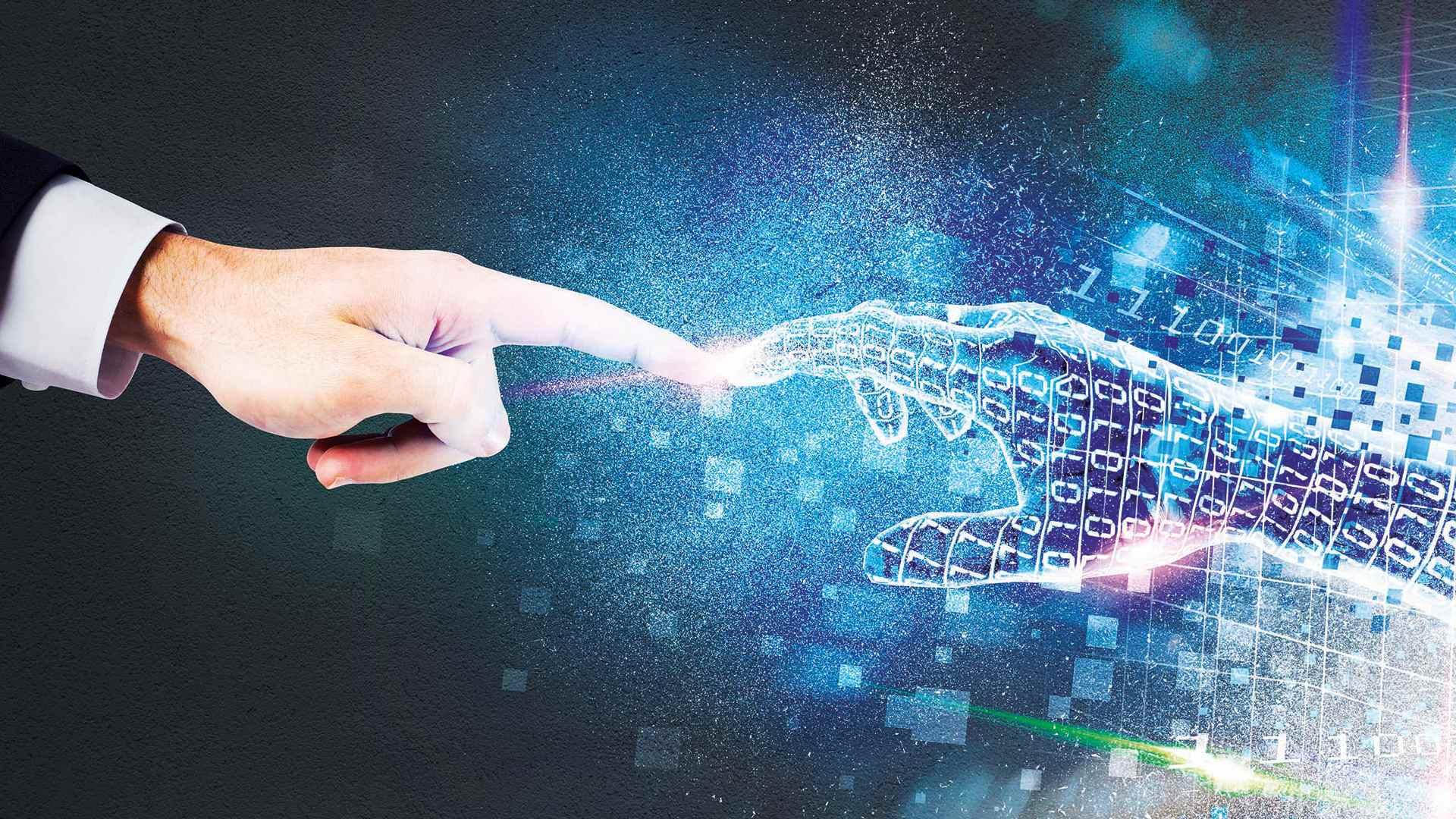 Hände digital Mensch